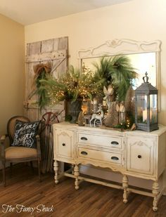 I have a similarly shaped piece - this will be my inspiration for it! pic from The Fancy Shack
