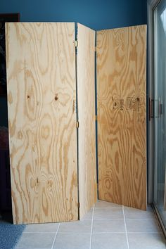 plywood room divider