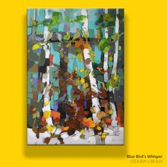 *Title: Blue Bird's Whisper *Size: 116.8.0cm x 80.3cm_50p *Painting are signed by Author - Kang hyejeong (강혜정) *Type: Mixed media on Canvas. *Status: This Painting is on 2018Coex Exbitition.