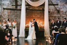 Brides: Modern Meets Romantic at This Couple's Dreamy Industrial Wedding in Atlanta