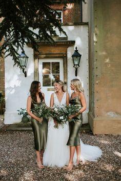 Tulle Wedding, Wedding Bridesmaids, Wedding Bells, Bohemian Bridesmaid, Wedding Reception, Olive Wedding, Sage Green Wedding, Olive Green Weddings, Wedding Colors