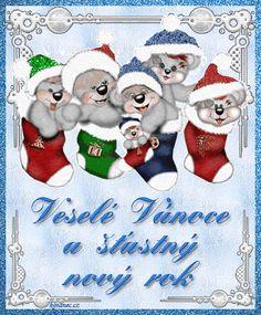 vánoční přání - přáníčka 021 Christmas Stockings, Christmas Ornaments, My Heritage, Advent, Holiday Decor, Cards, Home Decor, Humor, Xmas