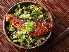 Make These Fresh and Easy Teriyaki-Glazed Salmon Rice Bowls for Dinner Tonight