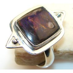 Talking About Awesome Color Of Ammolite Sterling Silver ring s. 10