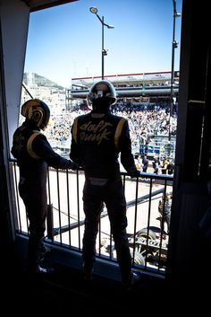 Daft Punk watching the race - 2013 Monaco GP
