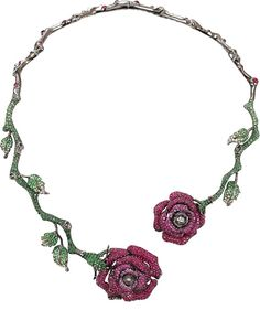 WENDY YUE Ruby Roses Necklace http://www.shopstyle.com/action/loadRetailerProductPage?id=446326624&pid=uid1209-1151453-20 www.USBlvd.com