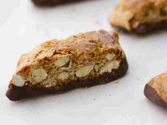 Sometimes a cup of coffee is simply not enough. Sometimes a cup of  coffee needs a biscotti. But not just any biscotti. This baton-shaped Italian cookie should be dense, chunky, dunkable -- and noisy till the end.