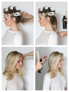 39 Ways To Trick People Into Thinking You're Good At Doing Your Hair Zahra Hair Using hot rollers to create a mega voluminous look is easier than it sounds. The trick is to place the rollers in your hair in the right order — in a strai Medium Hair Styles, Short Hair Styles, Curl Medium Hair, Loose Curls Medium Length Hair How To Do, Big Curls For Long Hair, Big Loose Curls, Curled Hairstyles For Medium Hair, Hot Rollers Hair, Hot Curlers
