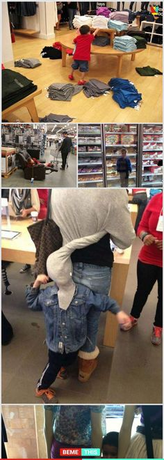 10+ Photos Proves That Taking Kids To Shopping is Not a Good Idea #funnypictures #shoppingwithkids #badidea