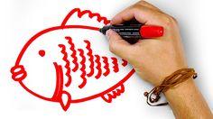 Красная Рыба, рисуем маркером, РыбаКит