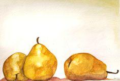 Pears    watercolor by Jacqueline Zuckerman