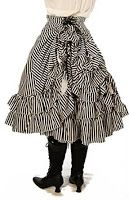 "Steampunk Mid-Length ""Persephone"" Bustle Skirt Black & White Ice Cream Parlour Stripes = M-L) Steampunk Skirt, Steampunk Costume, Steampunk Clothing, Steampunk Fashion, Steampunk Pirate, Steampunk Design, Bustle Skirt, Dress Skirt, Costumes For Sale"