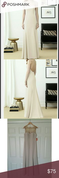 Dessy formal/bridesmaid/prom dress Color: Palomino Fabric: Crepe Comes with spare button Dessy Dresses Prom