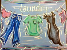 Laundry painting - Uptown Art