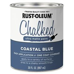 Our best chalk paint, Rust-Oleum Chalked Ultra Matte Paint, offers a velvety smooth, vintage look. Available in brush-on or aerosol formulas. Rustoleum Chalk Paint Colours, Chalk Paint Brands, Best Chalk Paint, Rustoleum Chalked, Annie Sloan Chalk Paint Old White, Chalk Painting, Front Door Colors, Chalk Paint Furniture, Milk Paint