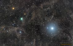 On the right is the famous stationary star Polaris, the 45th brightest star in the sky.It will always appear in the same direction as North Celestial Pole points near it. On the left, ten million times closer, is Comet Lovejoy, who changes position by the hour and will only appear near the North Star for a few more weeks. NASA Astronomy Picture of the Day: June 2, 2015