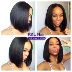 Cheap hair extensions half wig, Buy Quality hair paper directly from China hair lace wig Suppliers: Bob Cut Wigs, Short Bob Wigs, Short Straight Hair, Short Bob Hairstyles, Wig Hairstyles, Wig Bob, Short Bobs, Bob Haircuts, Cheap Human Hair