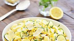 Three ten-minute pasta recipes that taste insanely good Ten Minutes, Pasta Recipes, Feta, Potato Salad, Zucchini, Vegetables, Cooking, Ethnic Recipes, Lazy