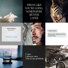 "fictionisanaddiction: "" Tony Stark moodboard 'Sometimes you gotta run before you can walk.' """