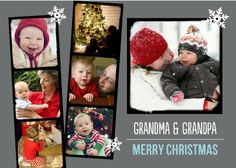 Festive Film Strip - Christmas Greeting Cards in Gunmetal | Magnolia Press