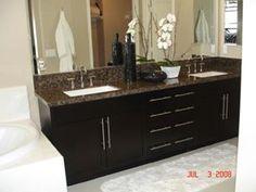 baltic brown granite and black cabinets - Google Search
