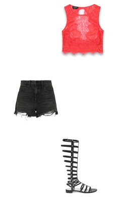 """""""Simple"""" by youngblooded-killjoys ❤ liked on Polyvore featuring Stuart Weitzman, Alexander Wang and Bebe"""