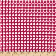 Riley Blake Christmas Basics Dot Red from @fabricdotcom  Designed by RBD Designers for Riley Blake, this cotton print is perfect for quilting, apparel and home decor accents.  Colors include white, red and shades of pink.