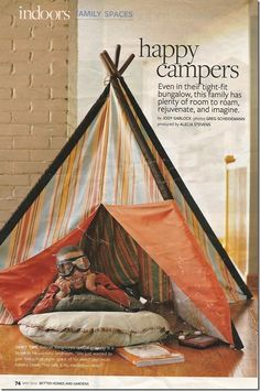 how cool would it be to have your own tee-pee?