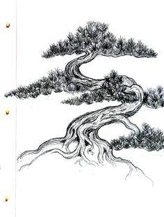 bonsai tree sketch - Buscar con Google