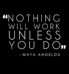 You work