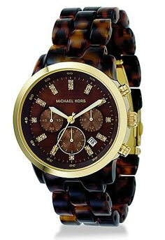 MICHAEL KORS CRYSTAL-INDICE ACRYLIC CHRONOGRAPH WATCH