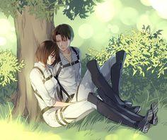 •Shingeki no Kyojin• ~♥ஜ♥~Rivaille and Mikasa~♥ஜ | VK