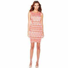 G by Giuliana Rancic Ikat Print Princess Seam Dress #HibiscusIkat
