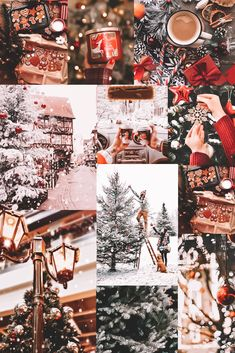 Christmas Collage, Cosy Christmas, Christmas Time Is Here, Christmas Wonderland, Merry Little Christmas, 12 Days Of Christmas, Christmas Holidays, Christmas Decorations, Christmas Trees