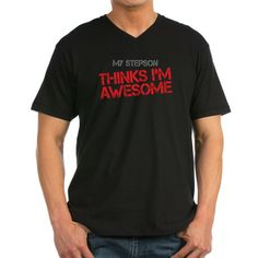 My Stepson Thinks I'm Awesome - Men's V-Neck T-Shirt