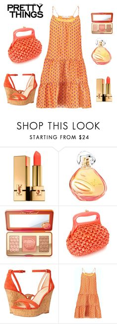 """Simplicity for Summer Days"" by boutiquebrowser ❤ liked on Polyvore featuring Yves Saint Laurent, Sisley, Too Faced Cosmetics, Nine West and Diane Von Furstenberg"