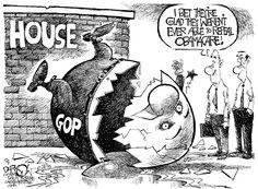 House Of Shards, John Darkow,Columbia Daily Tribune, Missouri,GOP, Obamacare, Affordable Care Act, GOP House Speaker
