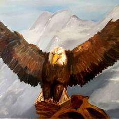 Beyond the skies by Amaey Parekh Artwork Online, Online Painting, Wildlife Paintings, Bald Eagle, Bird, Artist, Handmade, Stuff To Buy, Animals