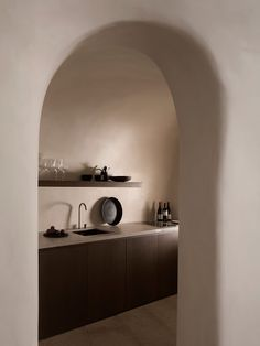 Designed by Athens-based K-Studio, Vora Villas in Santorini is truly a boutique hotel; there are only three rooms carved into a volcanic cliff face. Santorini Villas, Santorini Greece, Imerovigli Santorini, Interior Architecture, Interior Design, Studio Interior, Interior Plants, Turbulence Deco, Design Hotel