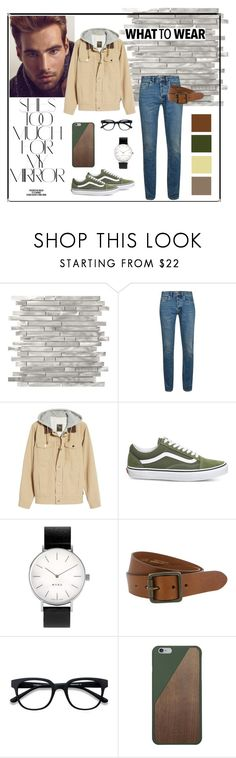 """what to wear"" by fox-live on Polyvore featuring Rika, Sebastian Professional, Topman, Vans, Myku, The British Belt Company, EyeBuyDirect.com, Native Union, men's fashion and menswear"