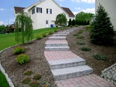 Stone steps with landings