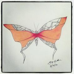 100 Butterflies in 100 Days, Day 48, Medium: Color Pencil