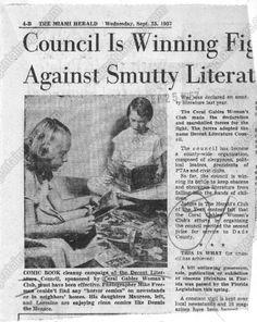 """Smutty Literature"" anti-comics article, circa 1957"