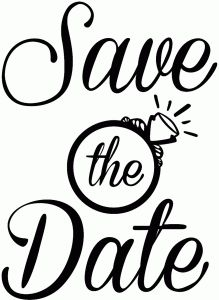 Silhouette Design Store - View Design #95192: save the date phrase