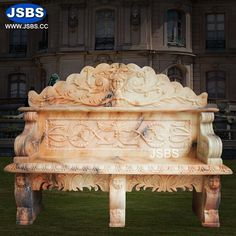 Marble Bench with Back Design More design on: www.jsbluesea.com info@jsbluesea.com Whatsapp|wechat:0086-13633118189 #homedecoration #housedecoration #gardendecor #houserenovation #homerestoration #marbledecor #stonedecor #weddingdecor #bench #JSBS #jsbsbench #jsbsmarble Marble Columns, Stone Columns, Happy National Day, Marble Carving, Chinese Valentine's Day, Bench With Back, Stone Fountains, Stone Bench, Marble Fireplaces