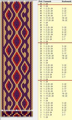 24 tarjetas, 3 colores, repite cada 16 movimientos // sed_710 diseñado en GTT༺❁