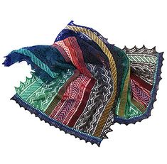 """A large complex stole pattern inspired by Turkish author Orhan Pamuk's """"Istanbul, Memories and the City""""."""