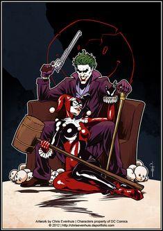 Joker + Harley: It's complicated by ChrisEvenhuis via deviantart