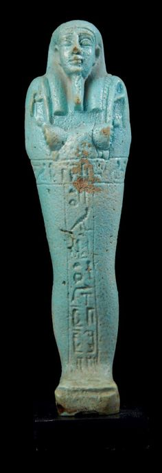 ÉGYPTE OUSHEBTI AU NOM DU SUPÉRIEUR DES PRÊTRES DE MENDES, NESBANEBDJED,