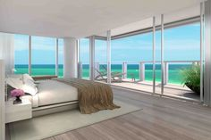 Together, the two penthouses have eight bedrooms and 11 bathrooms. The combined living area is 16,162 square feet, with about 9,843 square feet indoors.